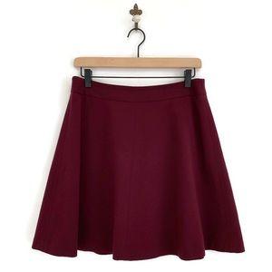 Ann Taylor Loft Burgundy Red Circle Mini Skirt 4